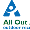 Square version of All Out Adventures logo